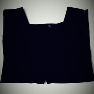 Loft Ladies Black Plus Size 20